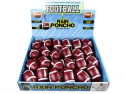 Wholesale Football Rain Poncho In Counterop Display