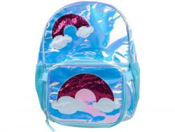 Wholesale Metallic Blue Backpack With Lunch Bag